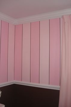 Pink Striped Walls Faith S Dream Room Stripe White Furniture Makes This