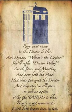 Oh my god I think I just died from sadness. That is so sad.... I feel so bad for the Doctor, always have