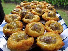 Plain Chicken: Sausage & Cheese Biscuit Bites - Football Tailgate breakfast