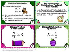 FREE Fractions Sampler Common Core Math 5th Grade Task Cards Games Centers