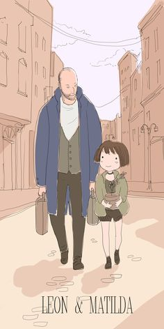 Leon and Matilda from the movie Leon the professio. Leon And Matilda Leon The Professional, Leon Matilda, Jean Reno, Comic Movies, Independent Films, Cute Images, Pretty Art, Great Movies, Game Art