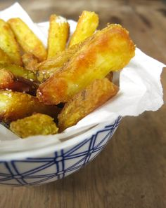 Batata-doce crocante com curry