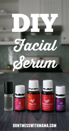 DIY Facial Serum - this is my favorite homemade face serum to help fight the signs of aging - DontMesswithMama.com