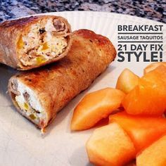 Family. Fitness. Food. Flavor. : Breakfast Sausage Taquitos - 21 Day Fix Style!