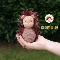Waldorf animal, Waldorf inspired hedgehog figure, Waldorf doll, pocket doll, gift for kids Wool Yarn, Gifts For Kids, Hedgehog, Teddy Bear, Textiles, Pocket, Dolls, Inspired, Children