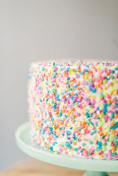 Sprinkle on the fun for this confetti inspired cake.