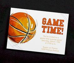 Game Time Basketball Party Invitation