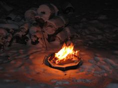 "A wonderful outdoor fire in the winter time helps to lift the ""spirits""..."