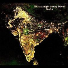 NASA images of India by night during festival of Diwali