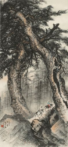 Li Xiongcai, 1959 큰 자연물안에 작은 인물
