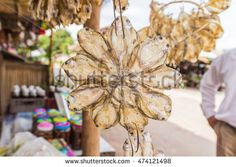 Dried salted fish for sale at Thai local market