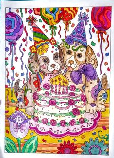 Joan Bosotina colorest Dazzling Dogs coloring book