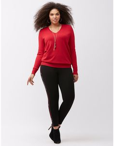 Double V pullover sweater by Lane Bryant | Lane Bryant