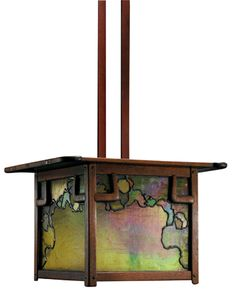 The unique light fixtures that the Greene brothers designed for each house flowed from the Arts and Crafts tradition. This signature 1910 lantern is from the James A. Culbertson House, 1902–14, in Pasadena. Courtesy of Guardian Stewardship. Photograph courtesy of Sotheby's, New York.