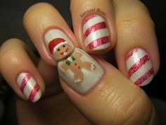 Lacquer Buzz: Gingerbread Man and Candy Canes