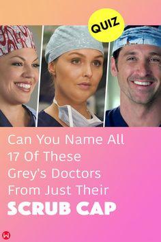 Fun trivia quiz on Shonda Rhimes Grey's Anatomy doctors' scrub caps, with Derek Shepherd ferry boats, Meredith Grey, and Owen Hunt. #scrubcap #greysscrubs #scrubs #greys #shondaland #greysLove #greysrandomQuiz #greysFan #meredithgrey #GreysAnatomy #greysAnatomyTrivia