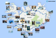 great guide with some places to camp and stop! Iceland Ring Road Map + key attractions along Route 1 great guide with some places to camp and stop! Iceland Ring Road Map + key attractions along Route 1 Guide To Iceland, Iceland Travel Tips, Iceland Road Trip, Camping Iceland, Map Iceland, West Iceland, Travel Maps, Places To Travel, Travel Destinations