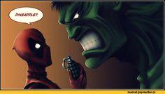 Marvel,фэндомы,Deadpool,Дэдпул, Уэйд Уилсон,Hulk,Халк, Брюс Баннер