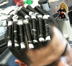 – Michael Peters – Sure, the bushy perms of the migh… – Zita Bretherton - Perm Hair Styles Men Perm, Curly Perm, Using A Curling Wand, Different Types Of Curls, Getting A Perm, Really Long Hair, Perm Rods, Mens Hair Trends, Roller Set