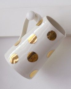 Gold Lustre large jug with large spots