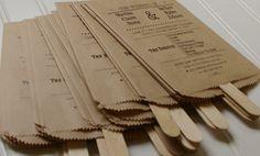 Paper Bag Fan Programs Set of 100 Custom Kraft by RubyLaneMoments, $260.00