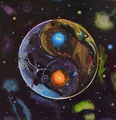 Yin Yang Mandala .#yinyang #yinyangmandala #cosmicenergy #galaxy #galaxypainting #mandala #mandalaenergy #mandalahealing #spituality #mysticart