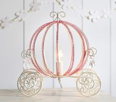 5/20/2015  Purchased on the phone through store to waive shipping. On sale for $79, plus 10% coupon code - totaled around $75 with tax! Princess Beaded Carriage Table Lamp | Pottery Barn Kids