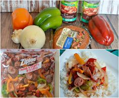 Sausage with Peppers and Onions freezer bag meal Hip2Save