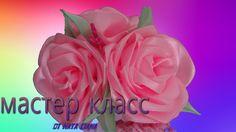 Красивая роза из атласной ленты.Повязка на голову. Пишите свои комментарии, буду рада общению с Вами. ПЛЕЙЛИСТЫ МОИХ РАБОТ: Канзаши - https://www.youtube.com...