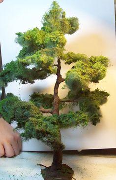 Miniature canarian pine, large tree
