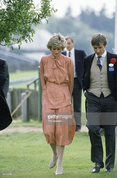 Princess Diana With A Friend At Guards Polo Club After Spending The Day At Royal Ascot.
