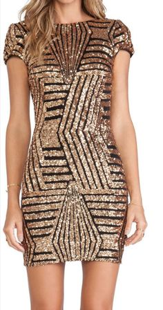 7b987105236 Golden Sparkle Sequin Backless Bodycon Dress