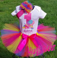 Candyland Birthday Tutu Outfit Candy Land Sweets Any by HugWear