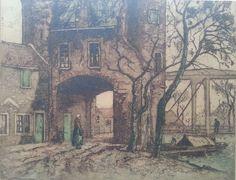 Jan Sirks (1885-1938), Oostpoort Delft, kleurenets, Jan Sirks (1885-1938)