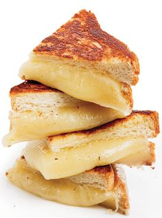 Mozzarella Cheese Dream Sandwich-  The ultimate grilled cheese sandwich, according to author Francine Prose, includes Aleppo pepper, which adds a dimension of spiciness to balance the tangy sourdough bread and the creamy mozzarella.