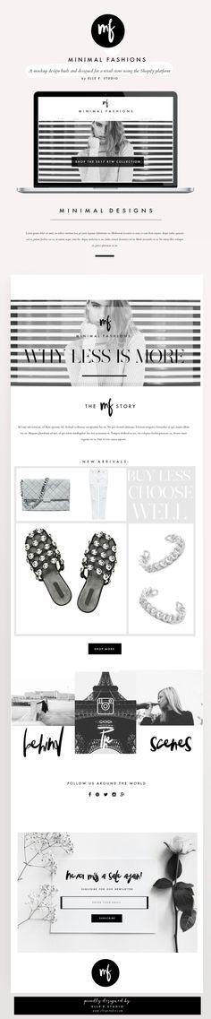 Shopify Fashion Retail Website Design by Elle P. Studio