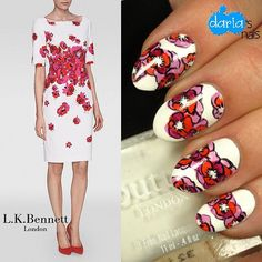 I'm in love with this design by @dariasnails for #nafw2015 Day 1 - favorite designer. She chose @lkbennettlondon. Didn't she do an amazing job? | #nailart #nail #nails #nailpolish #mani #manicure