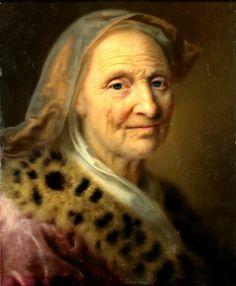 Balthasar Denner. Alte Frau mit goldgelbem Kopftuch