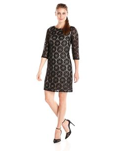 Jessica Howard Women's All Over Lace Shift Dress ** To view further for this item, visit the image link. (This is an affiliate link) #CocktailDress