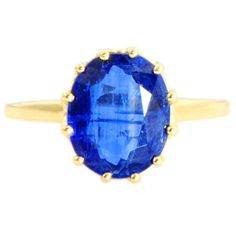 Kyanite 4.63 Carat Natural Gemstone Ring In 10 Kt Solid Yellow Gold Jewelry #DJOYER #Solitaire