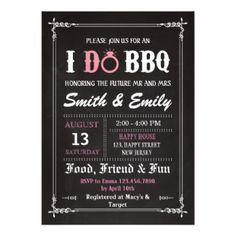 I Do Bbq Invitations & Announcements   Zazzle
