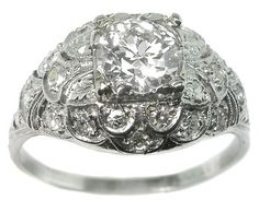 0.88ct Diamond Edwardian Platinum  Ring