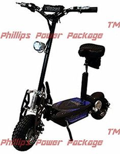 Super Cycles  Scooters  Super Turbo 1000Elite  36V Electric Scooter  2Wheel  Black  PHILLIPS POWER PACKAGE TM  TO 500 VALUE * View the item in details by clicking the VISIT button