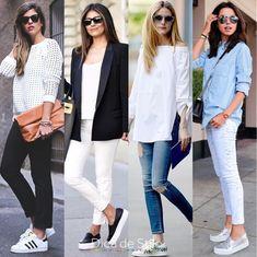 """c1b7d27cc6 Dica de Stilo on Instagram  """"Como usar tênis no look sem parecer  desarrumada  Simples! Use com roupas mais formais de estilo. A mistura  funciona super bem!"""
