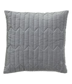 Check this out! Cushion cover in cotton velvet with quilted front section and concealed zip. - Visit hm.com to see more.