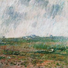 Claude MONET : Pluie à Belle-Ile (1886).