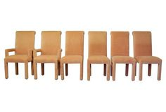 1970s Parsons Dining Chairs, S/6