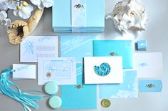 Ocean blue, sea wedding invitation & stationary Wedding Invitation Design, Tiffany Blue, Decor Crafts, Ideas Para, Stationary, Anna, Wedding Inspiration, Ocean, Events