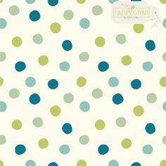 """Bio-Stoffe - BIRCH Interlock Jersey Bio """"Pop Dots Boy"""" - ein Designerstück von Eulenmeisterei-Biostoffe bei DaWanda"""