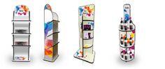 Espositori-pubblicitari per vari prodotti -materiale re-board eco-compatibile.